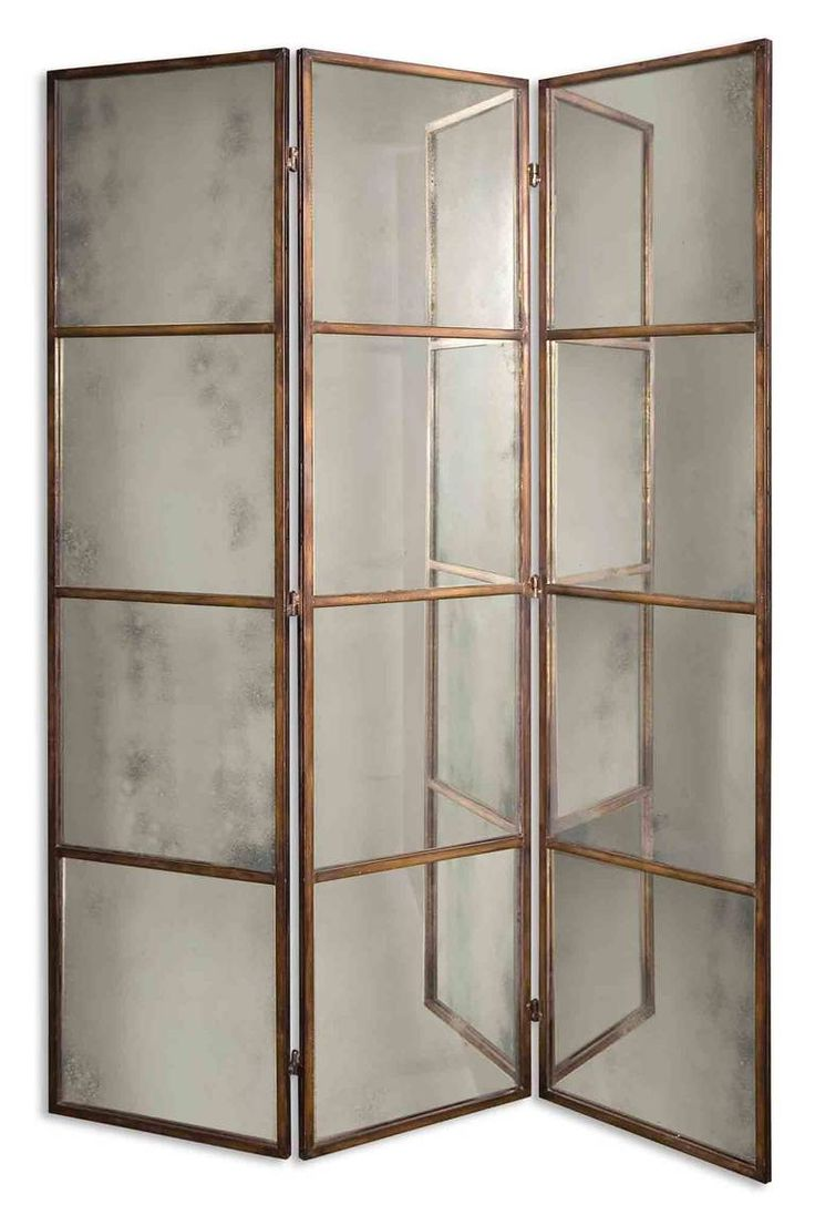 If I go dark on the walls, this might be in order for the living room... Antiqued Mirrored Screen | 1stdibs.com