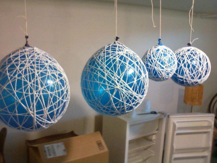 diy wedding decor | Hobart and Haven: String Chandeliers- DIY wedding decoration