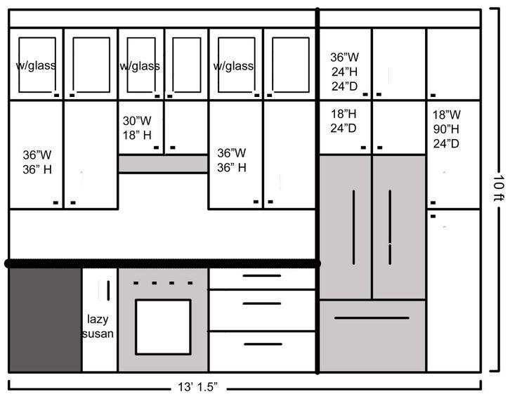The 25+ best Refrigerator dimensions ideas on Pinterest | Kitchen ...