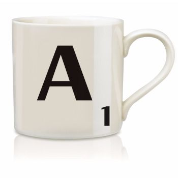 Scrabble Mug A: Scrabble mugs – collect the set for when you have 25 friends round for tea.