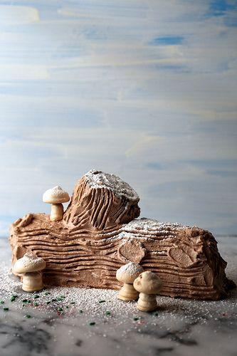 Icebox Yule Log Cake // joy the baker