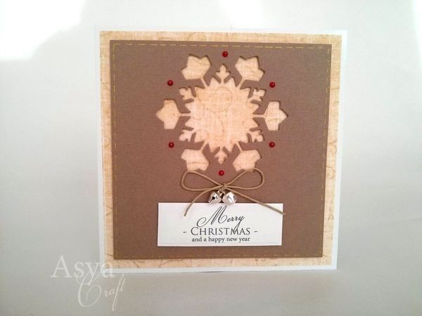 Christmas handmade card - Snowflake