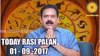 Rasi Palan 01-09-2017 | DAILY Tamil ASTROLOGY
