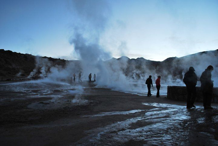 Géiser del tatio, norte de Chile