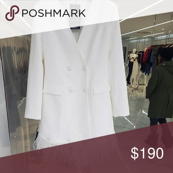 WHITE JACKET DRESS High End jacket dress ..One word to describe :Class Dresses Mini