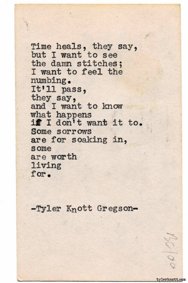 Typewriter Series #1860 by Tyler Knott Gregson