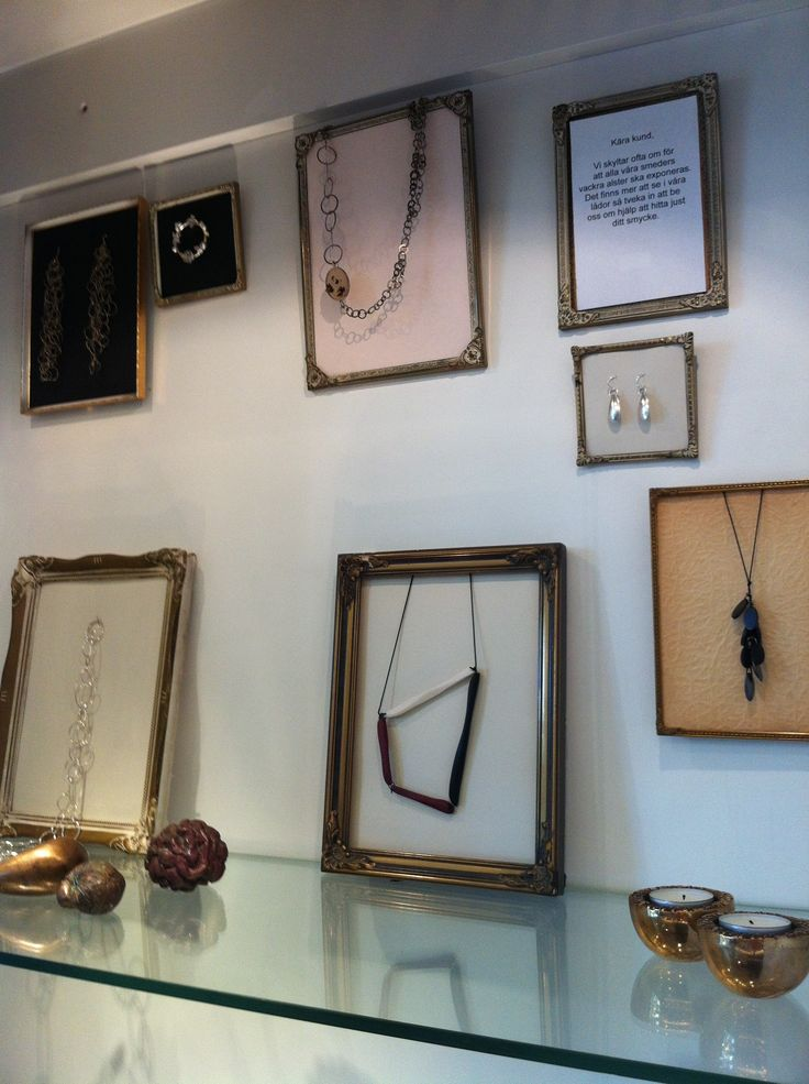 Jewellery display at Konsthantverkarna.