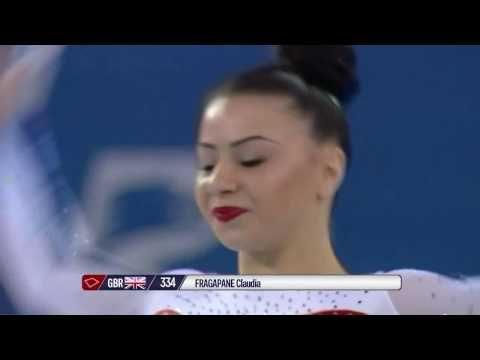 2017 European Gymnastics - Claudia Fragapane FX Qual HD720p - YouTube