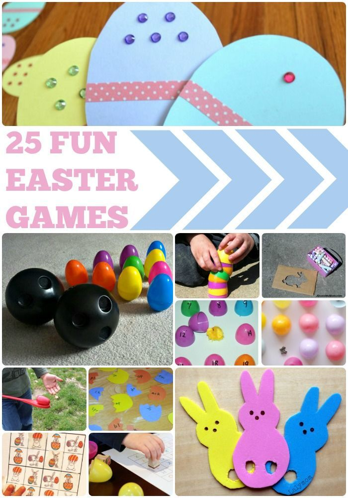 25 Fun Easter Games for Kids - Featured on http://Lalymom.com - how cute are these!