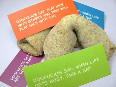 Dog fortune cookies!