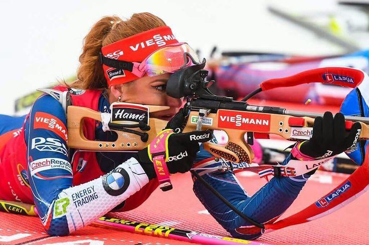 Gabi Koukalova wins in Oberhof. Jan. 2017.