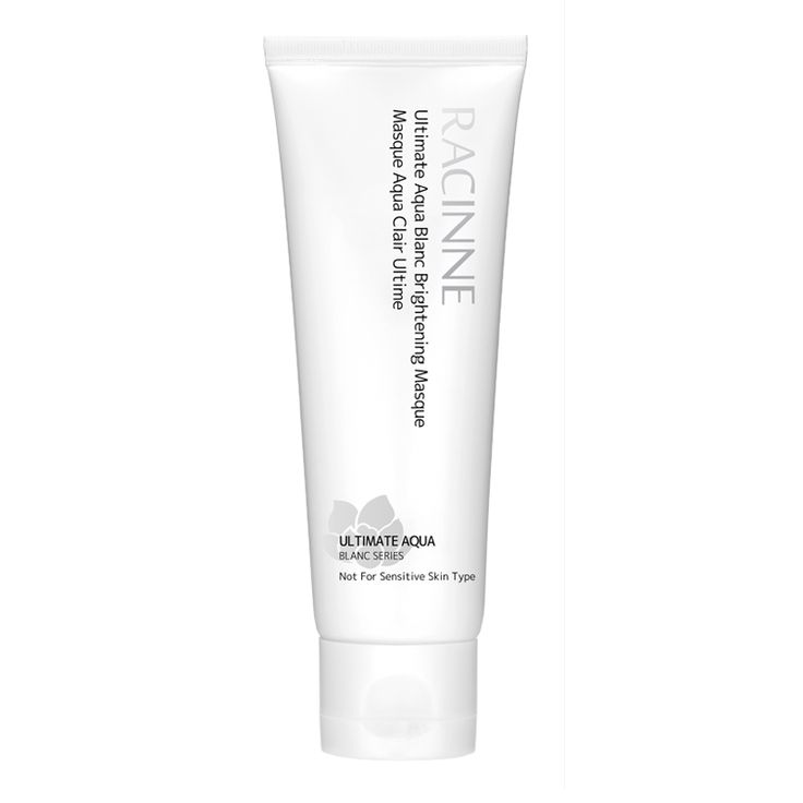 Ultimate Aqua Blanc Brightening Masque | Ultimate Aqua Blanc Series | Racinne USA- I sampled this in my Total Beauty- Red Carpet box. Most luxurious mask I have ever used. A unique, creamy, gel-like formula. Amazing smell. I don't know if I can justify $36 price tag. UGGHHHH... but I really like it. I hate everything because I can't have this. But I love this mask.
