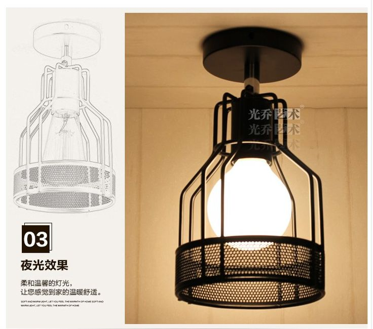 E27 LED Cage Shaped Industrial Retro Ceiling Light Iron Material  outdoor lighting modern led ceiling lights for living room-in Ceiling Lights from Lights & Lighting on Aliexpress.com | Alibaba Group