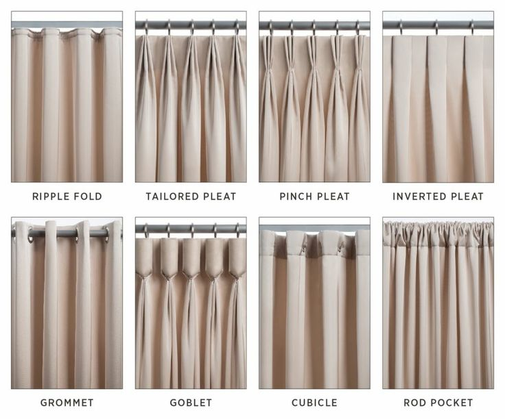 There are many different types of pleats when it comes to drapery. Here are  some of the most common ones, and some of my favorites!
