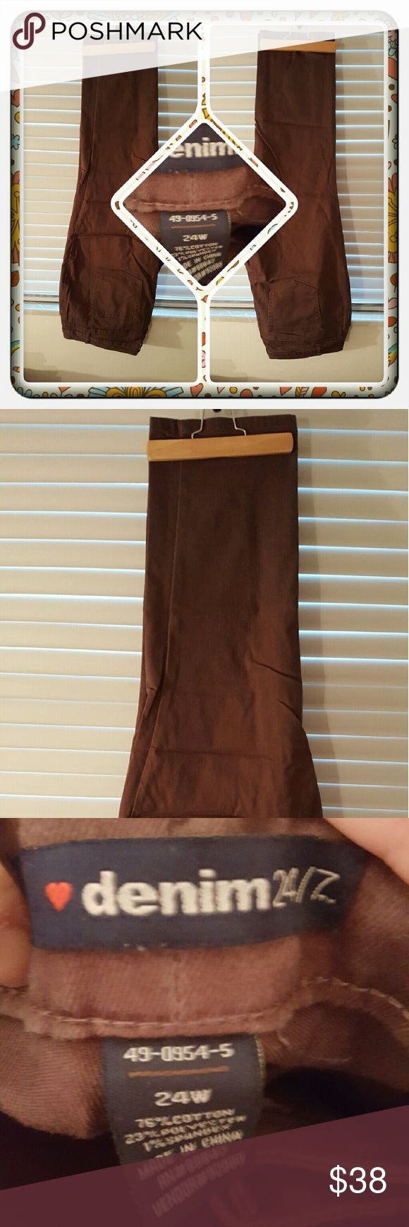 ❤ Woman's Brown Jeans Size 24W ❤ Woman's Brown Straight Leg Jeans From Woman Within Size 24W. These Have Been Worn & Washed No Damage I'm Aware Of Very Comfy & Stylish 🚫 PAYPAL 🚫 TRADES 🚫 OFFERS PRICED LOW TO SELL ❤ Woman Within Jeans Straight Leg