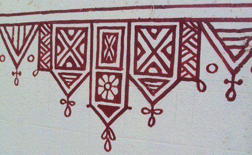 Another variation of triangular border motifs