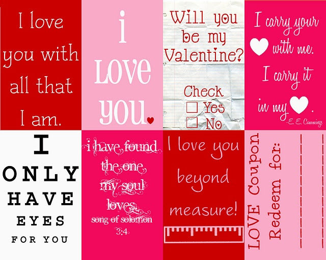 Valentine's Messages {Printables}