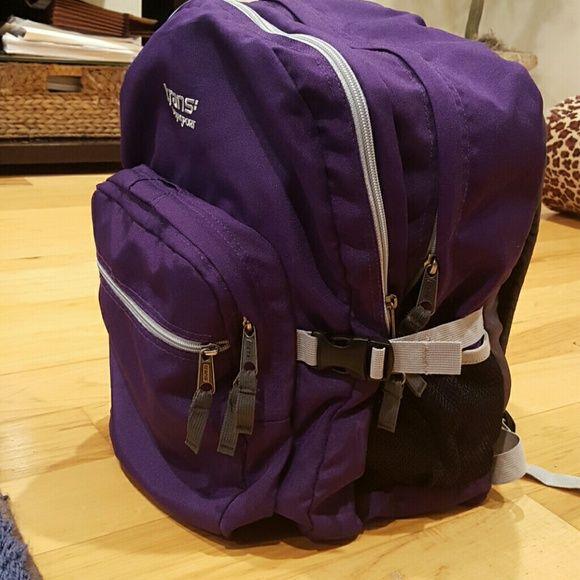 Trans Jansport Backpack Trans Jansport Backpack. Purple with light grey zipper and straps. Like new, no damage or stains. Jansport Bags Backpacks