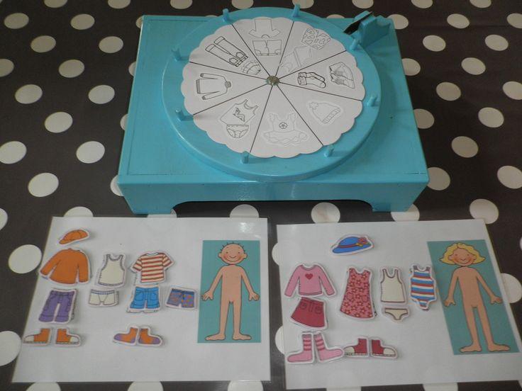 Thema 'Mijn lichaam & kleren': Draaischijf spel kleren van Jules & Marie