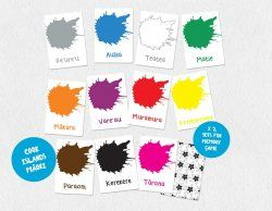 Cook Islands Maori Colours Flash Cards