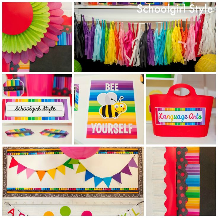 Happy Rainbow Chalkboard by Schoolgirl Style,,, I love the COLORS!!