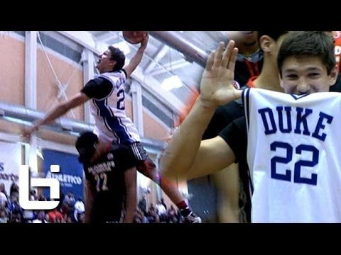 Grayson Allen Jumps OVER 6'11 Jahlil Okafor Wearing Jay Williams Jersey!