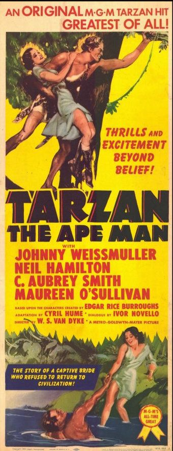 The film that launched Johnny Weissmuller's film career, Tarzan the Ape Man (1932).