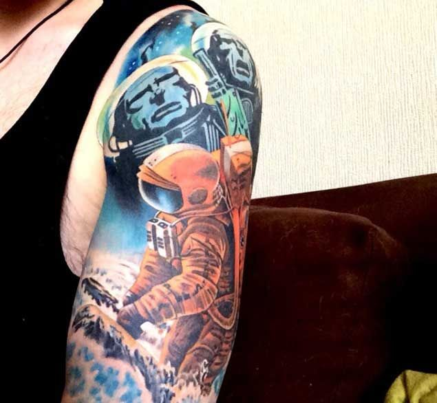 50 Earth Shattering Space Tattoos That Are Literally Out ...