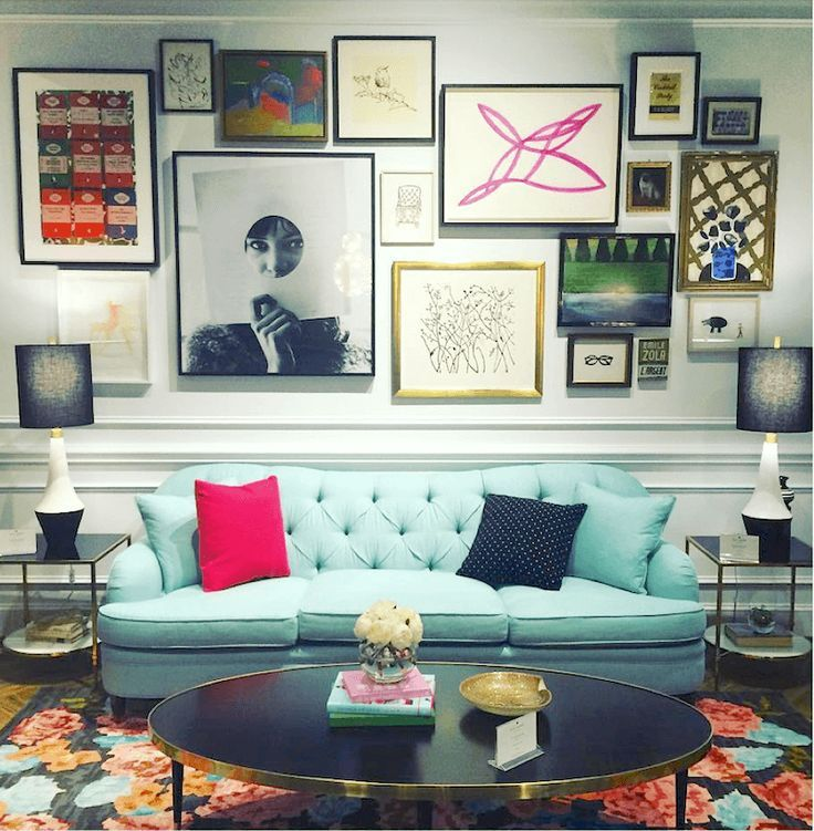 High Point Market Fall 2015 | Design Blogger's Tour | Part I - laurel home | beautiful, Kate Spade for EJ Victor #hpmkt #designbloggerstour | fabulous art Gallery Wall!