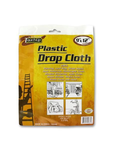 plastic drop cloth available in a pack of 24
