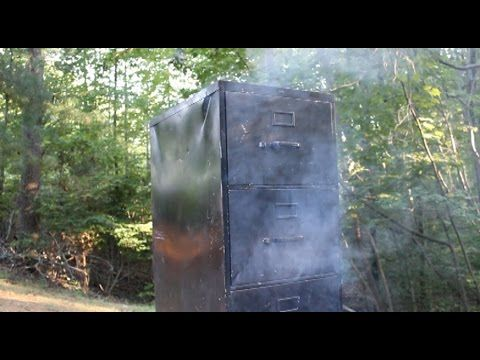 DIY Video: How to build a Simple Homemade Smoker from an Old File Cabinet - Page 2 of 2 - Practical Survivalist