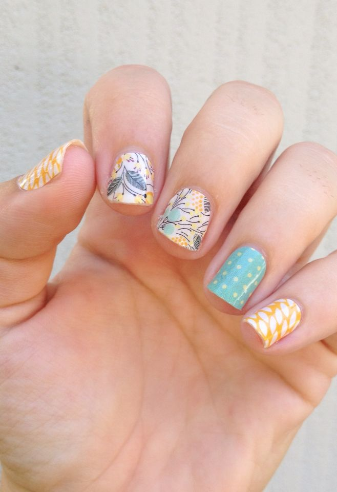 Sunny Lotus Sweet Whimsy Teal Mini Polka Jamberry nail wraps, Buy 3 get 1 free! To order: http://jamminwithcollette.jamberrynails.net/shop