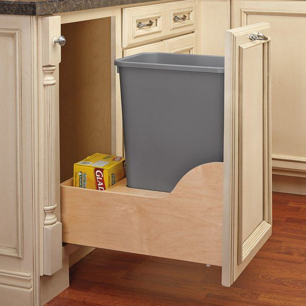 The Waste containers feature beautiful wood dovetail construction with full-extension soft-close slide system. Patented adjustable door mount brackets will let you mount your cabinet door directly to your waste container for easy access. The Blumotion slides system makes this one of the smoothest units to open and close.