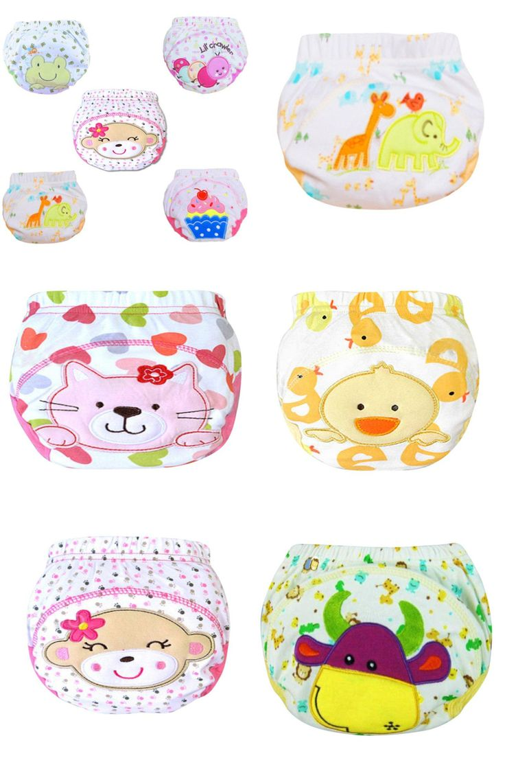 [Visit to Buy] Cute Kids Infant  Nappy Cotton Underwear  Pants Toilet Potty Baby Toddler Cloth Diaper Cover #Advertisement