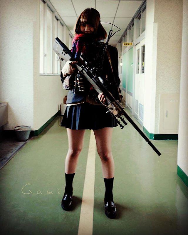 "WEBSTA @ blueswallowtail - Welcome to our "" Tango Down "" club activities.  High-school shooter girl  #japon #japan #tokyo #pewpew #sniperrifle #pewpewlife  #308win #remington  #sharpshooter #sniper #remington700 #M40 #762nato  #308 #m700 #m40a5 #surefire  #sniper #gungirl #jk #U18 #highschool  #highschoolfriends #highschoolgirls  #schoollife #tactical #tacticallife #tacticalgear"