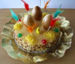 Mona de Pasqua - Typical Catalan cake for Easter Monday.