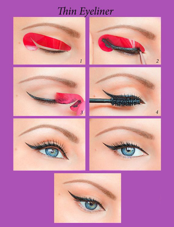 Quick Eyeliner Stickies Stencils Cosmetic by QuickMakeupStencils