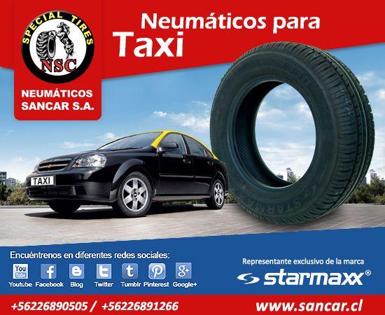 Neumáticos para taxis y colectivos encuéntrelos en www.sancar.cl y en redes sociales twitter, pinterest, blog, google+ y más