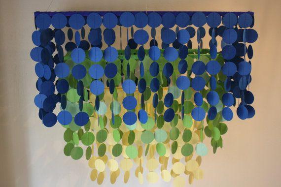 Blue Ombre Chandelier - Homes & Heels