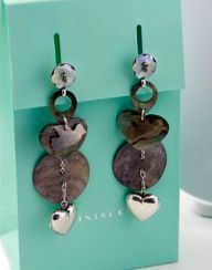 REMINISCENCE PARIS Butterfly and Hearts Silver & Mother of Pearl Earrings Purchase: $85.00 CAD