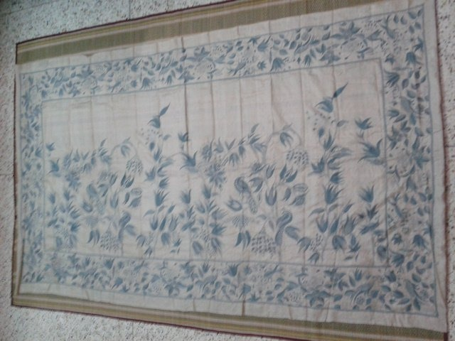 Hand Embroidered Nakshi Kantha of Bengal.