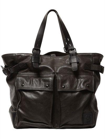 Belstaff Pinner Leather Tote Bag