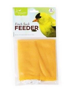 Pacific Bird Nyjer Seed Bird Feeder Finch Thistle Sock White Yellow 2pc 24X4.7""""