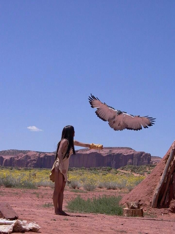 Native American Woman & Eagle                                                                                                                                                      More