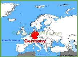 Germany location on the Europe map