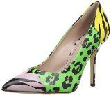 Moschino Cheap and Chic Womens CA1003AC1K Court Shoes- http://www.siboom.co.uk/compare-prices-women-s-shoes_c110514.html?catt=women-s-shoes&rf=moschino&ppa=3 Green and black leopard print patent leather Pink and black zebra print patent leather Yellow and black zebra print patent leather  100mm stiletto heel    Tipo Shoes  Editore Moschino Cheap and Chic