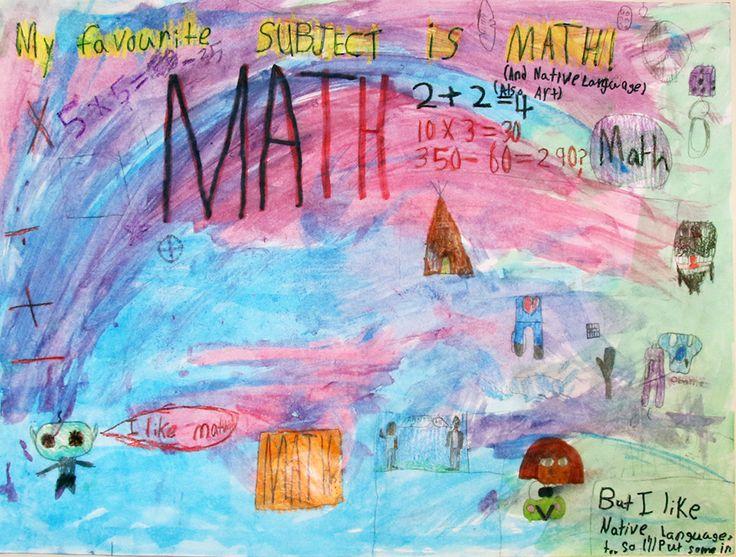 Une illustration d'un élève de la Wasse Abin Junior School montre sa passion pour les #mathématiques! #octoeeo #onted #Ontario #PNMI