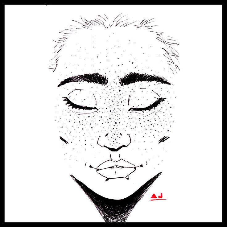 Constellations #Constellations #freckles #freckled  #doodle #illustration #drawing #art #ARTwork #comicART #mixedmedia