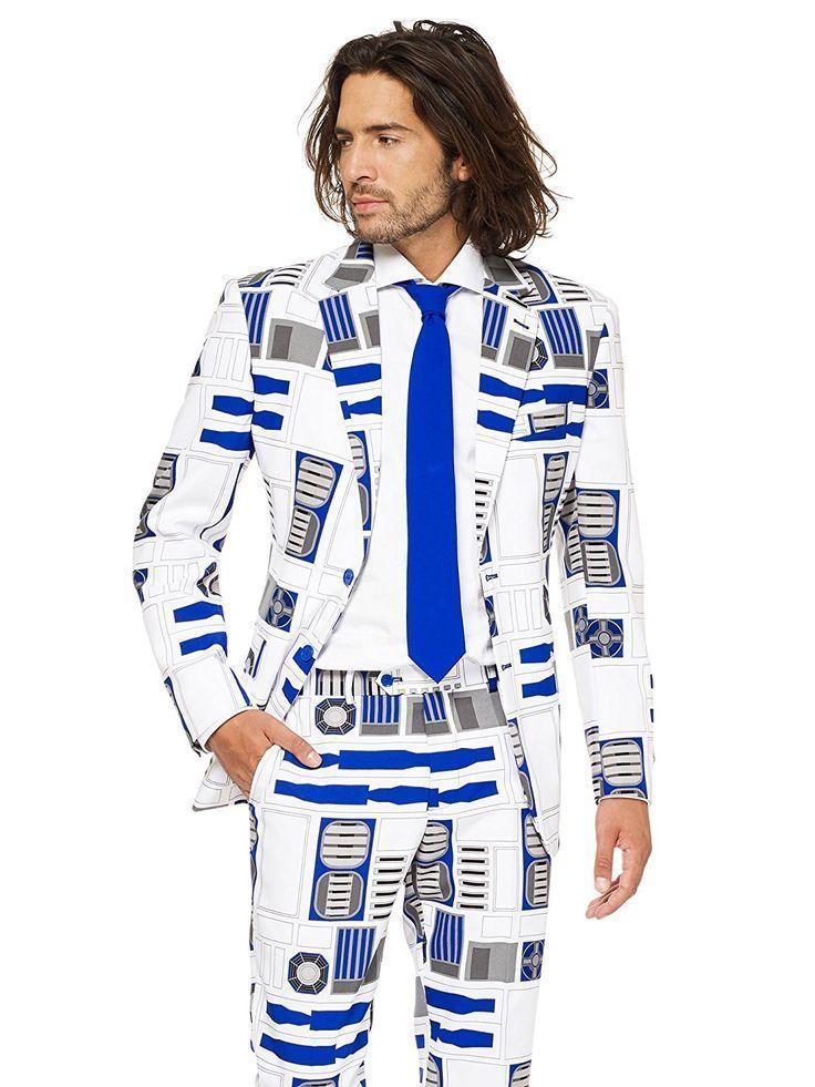 88f85ac5046e OMG wie geil! Anzug mit Krawatte - komplett im Star Wars R2D2 Design ...
