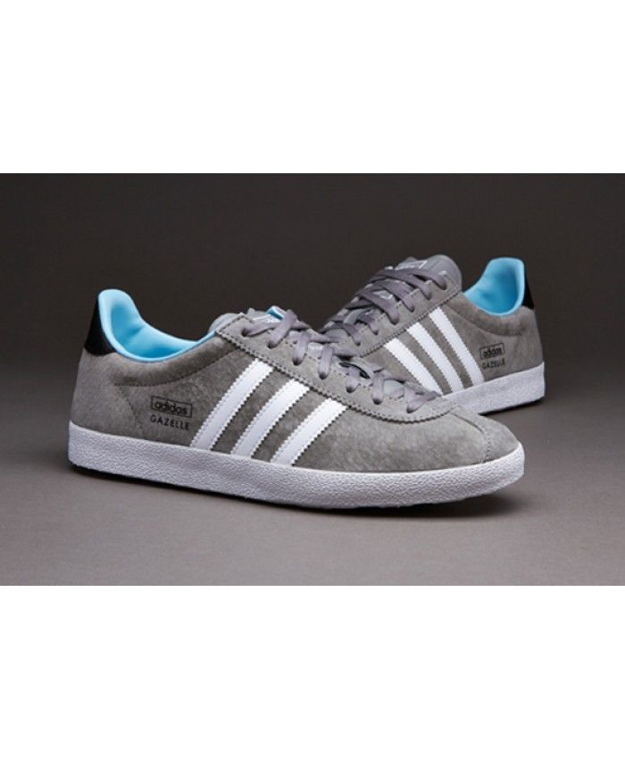 Adidas Gazelle OG Wolf Grey Navy White Trainer  31d33a33c